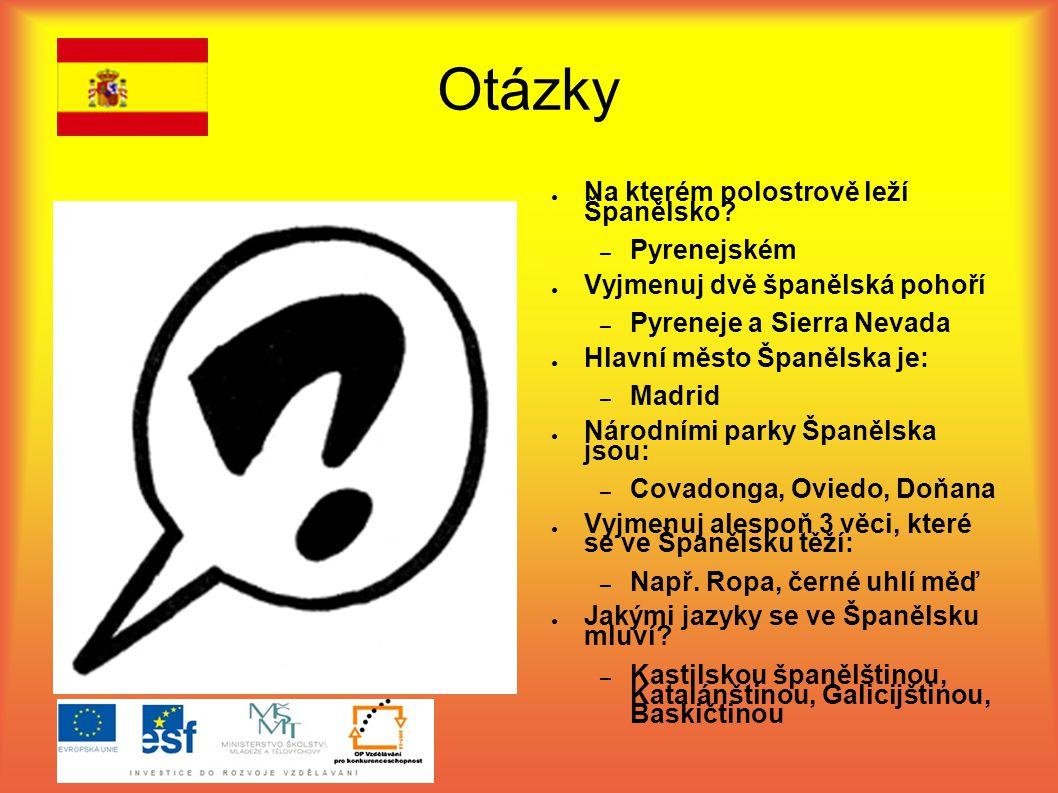 Otázky Na kterém polostrově leží Španělsko Pyrenejském
