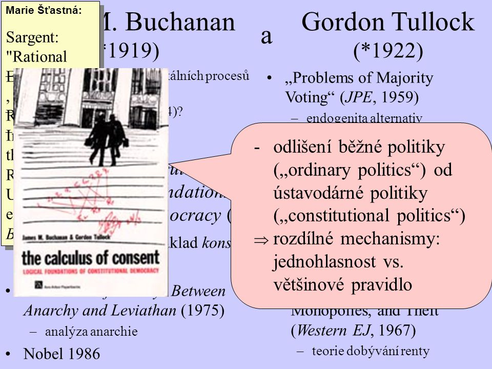 James M. Buchanan (*1919) a Gordon Tullock (*1922)