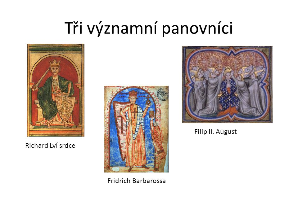 Tři významní panovníci