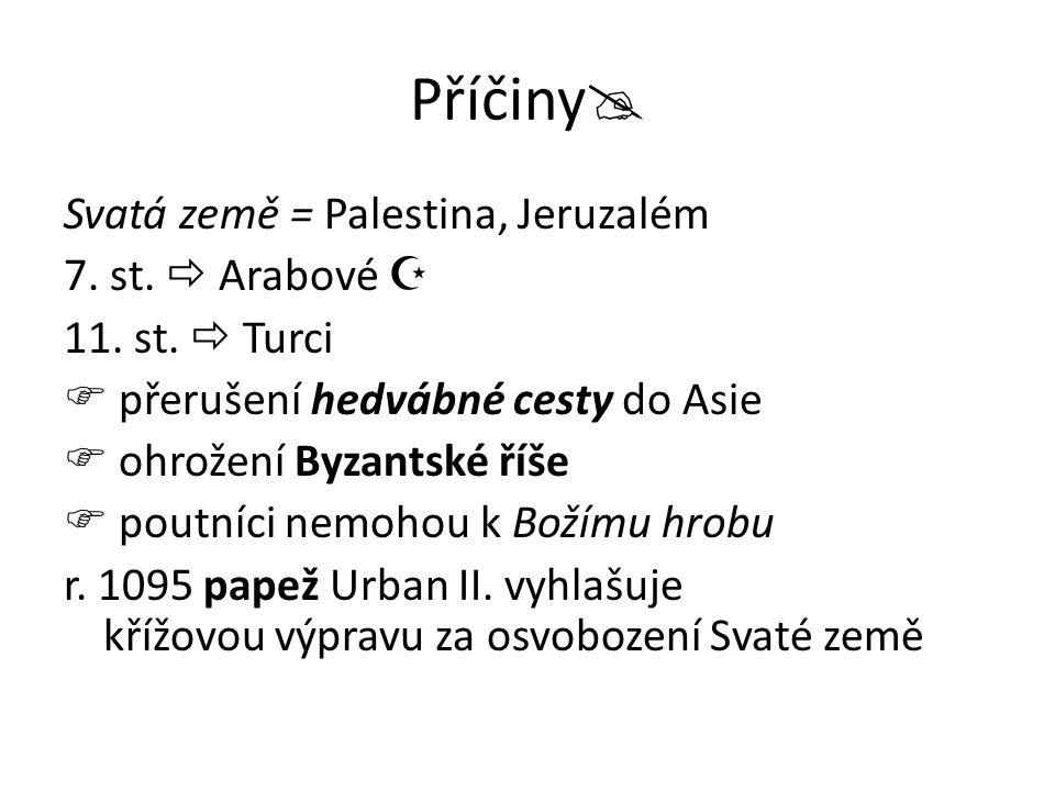 Příčiny Svatá země = Palestina, Jeruzalém 7. st.  Arabové 