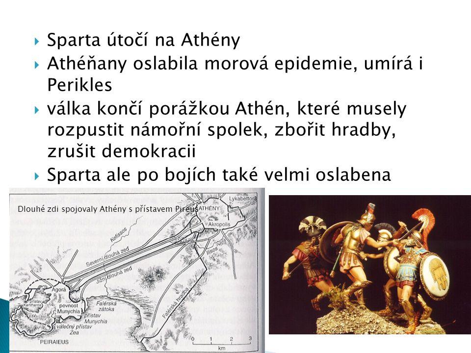 Athéňany oslabila morová epidemie, umírá i Perikles