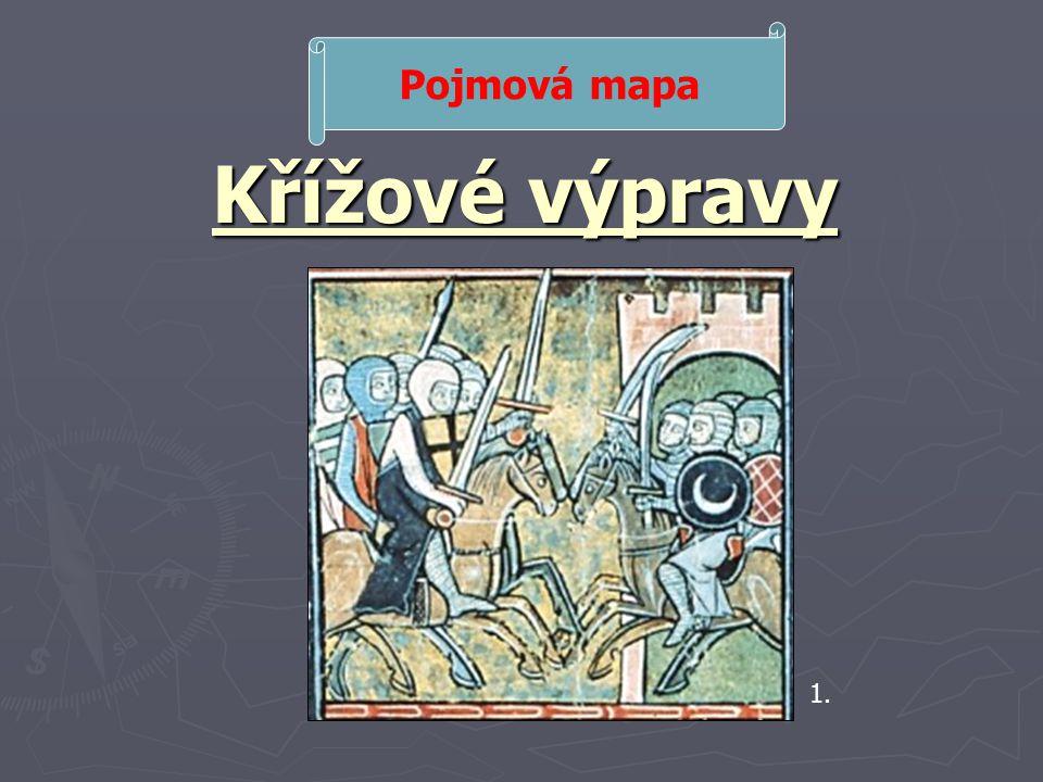 Křížové výpravy Pojmová mapa 1.