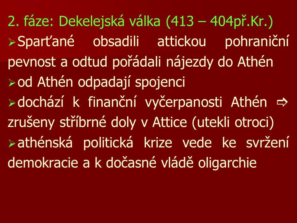 2. fáze: Dekelejská válka (413 – 404př.Kr.)