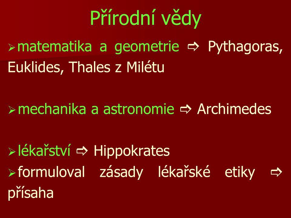 Přírodní vědy mechanika a astronomie  Archimedes