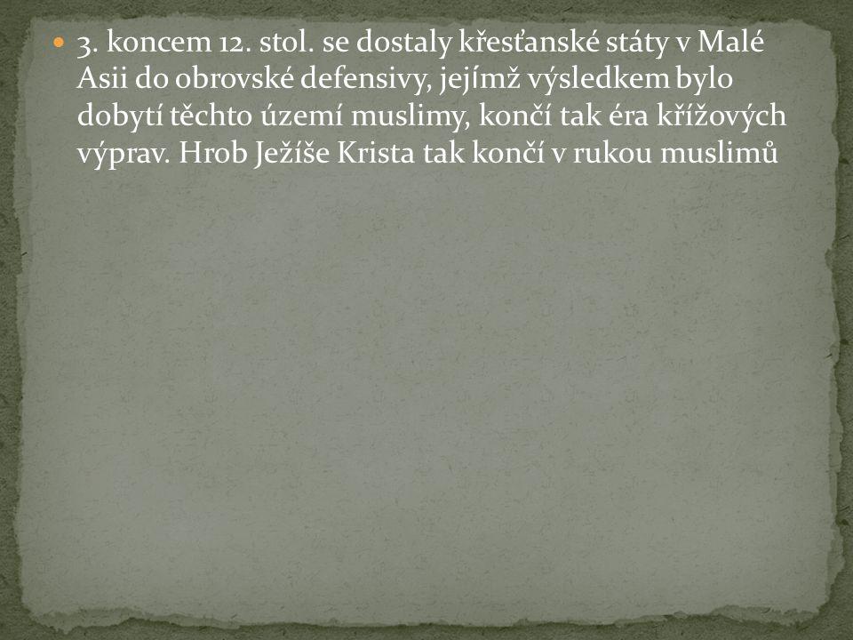 3. koncem 12. stol.