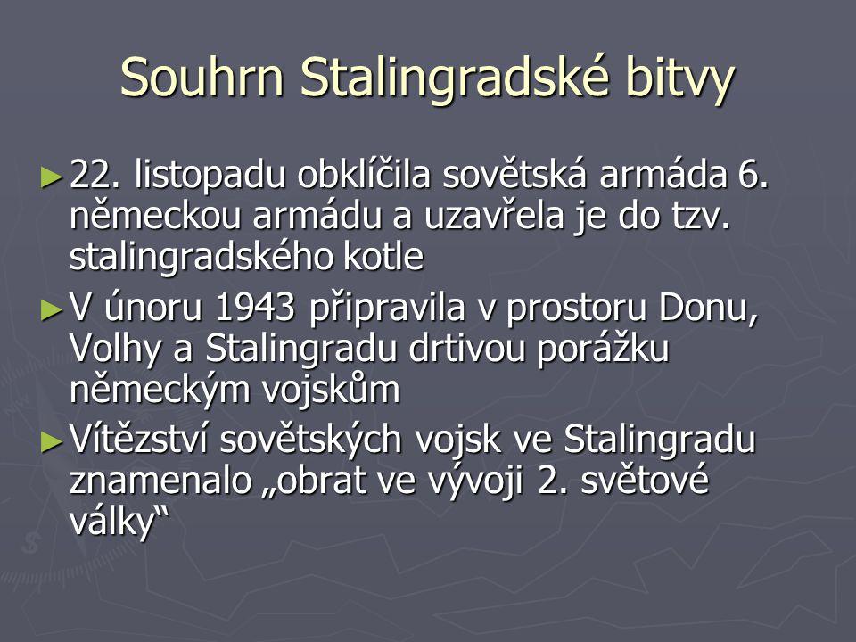 Souhrn Stalingradské bitvy