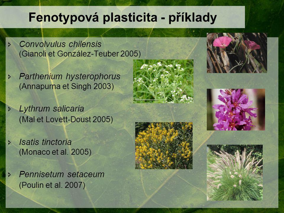 Fenotypová plasticita - příklady