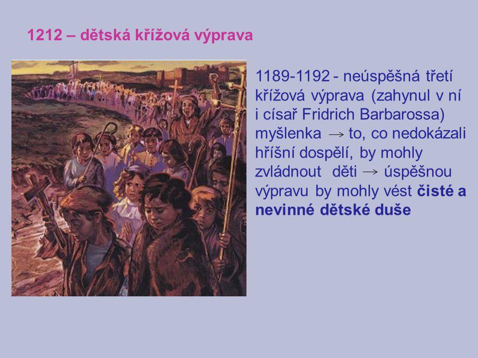 1212 – dětská křížová výprava