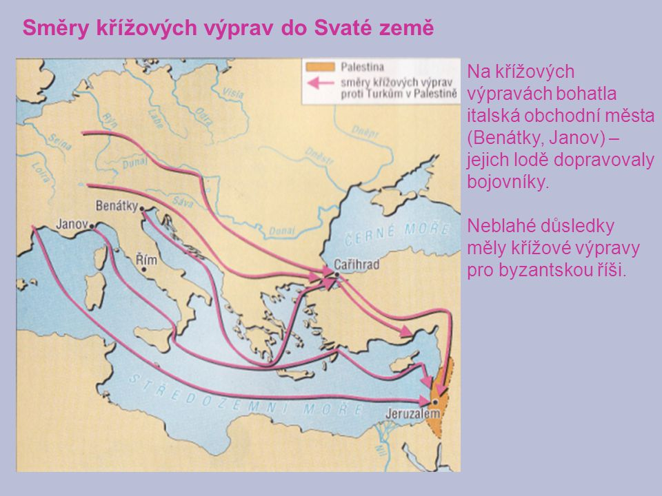 Směry křížových výprav do Svaté země