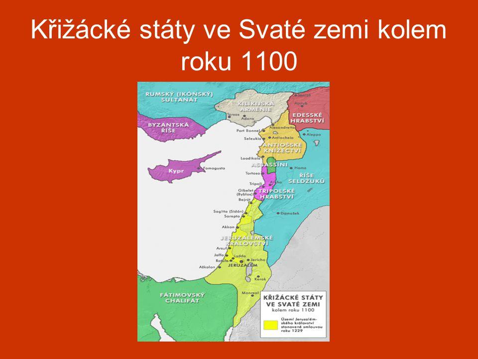Křižácké státy ve Svaté zemi kolem roku 1100