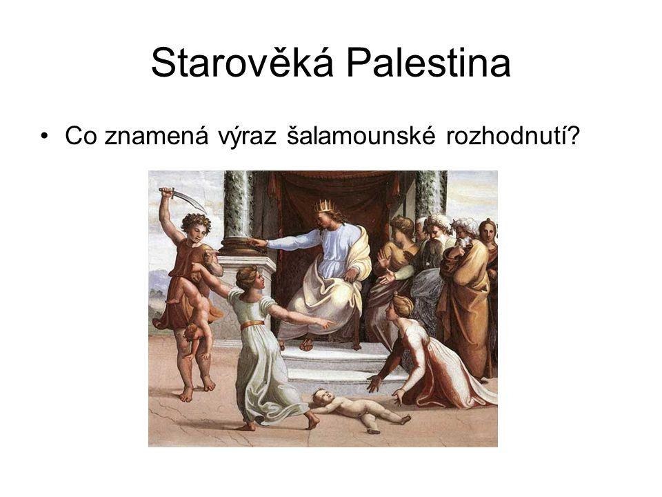 Starověká Palestina Co znamená výraz šalamounské rozhodnutí