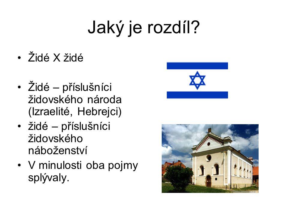 Jaký je rozdíl Židé X židé