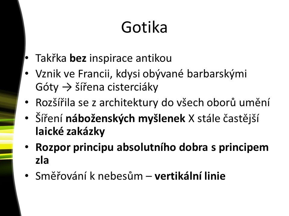 Gotika Takřka bez inspirace antikou