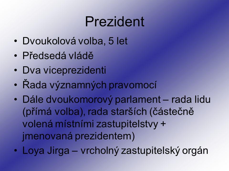 Prezident Dvoukolová volba, 5 let Předsedá vládě Dva viceprezidenti