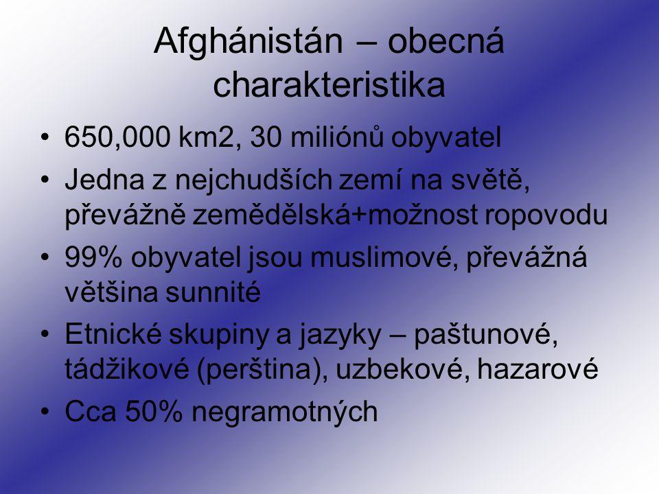 Afghánistán – obecná charakteristika