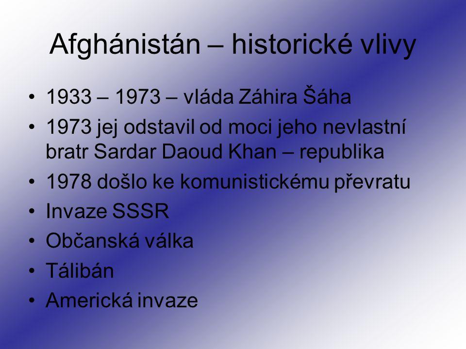 Afghánistán – historické vlivy