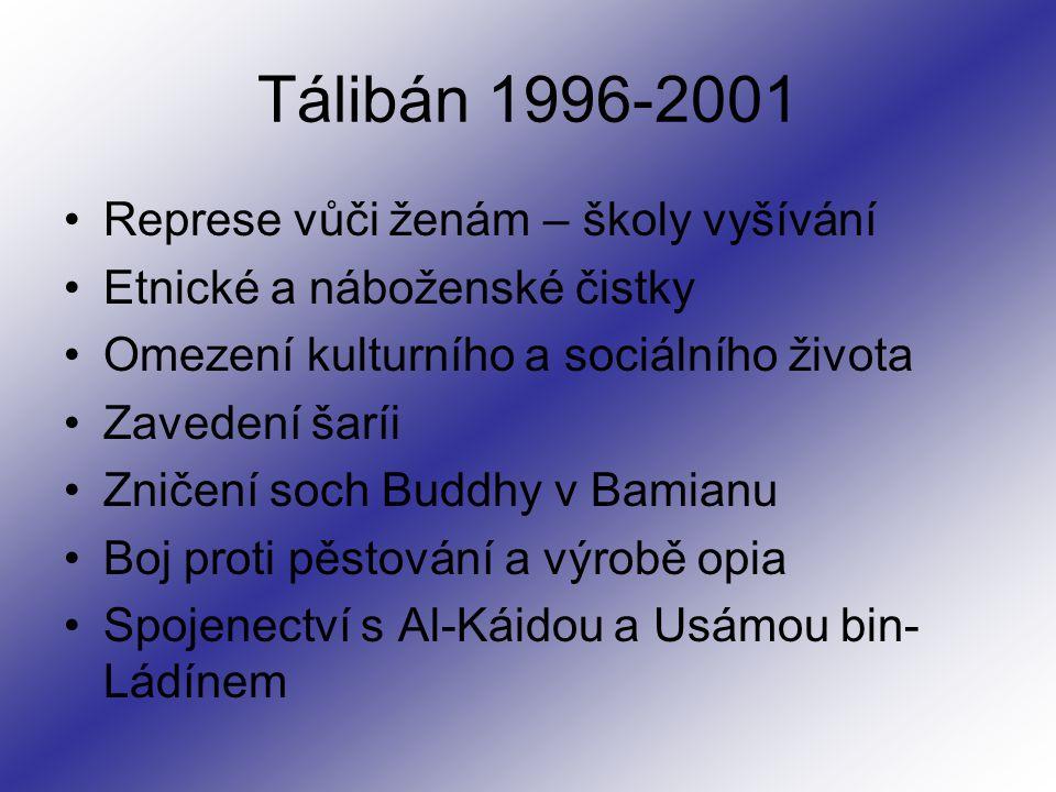 Tálibán 1996-2001 Represe vůči ženám – školy vyšívání