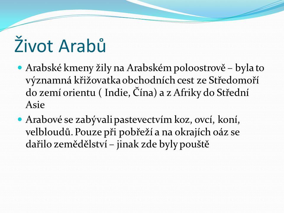 Život Arabů