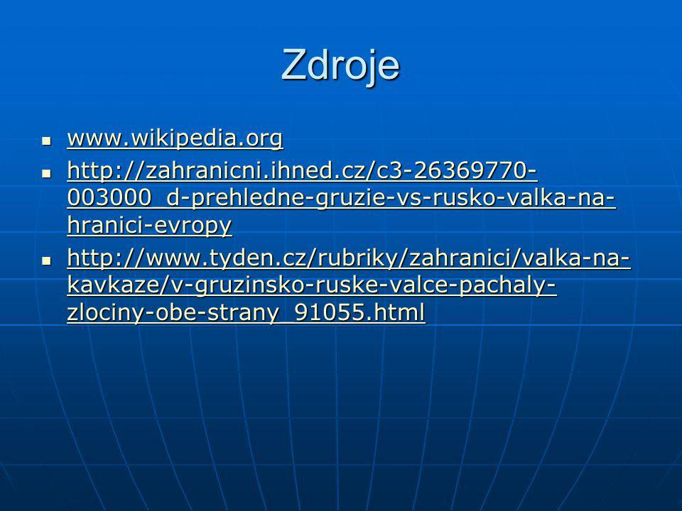 Zdroje www.wikipedia.org