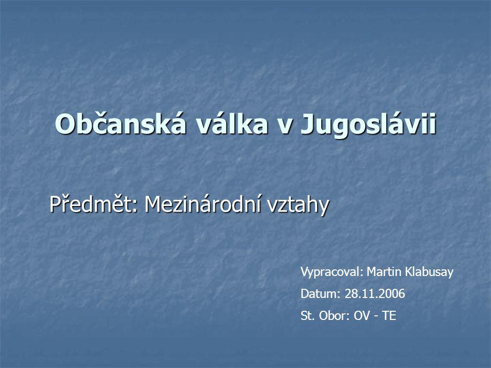 Občanská válka v Jugoslávii