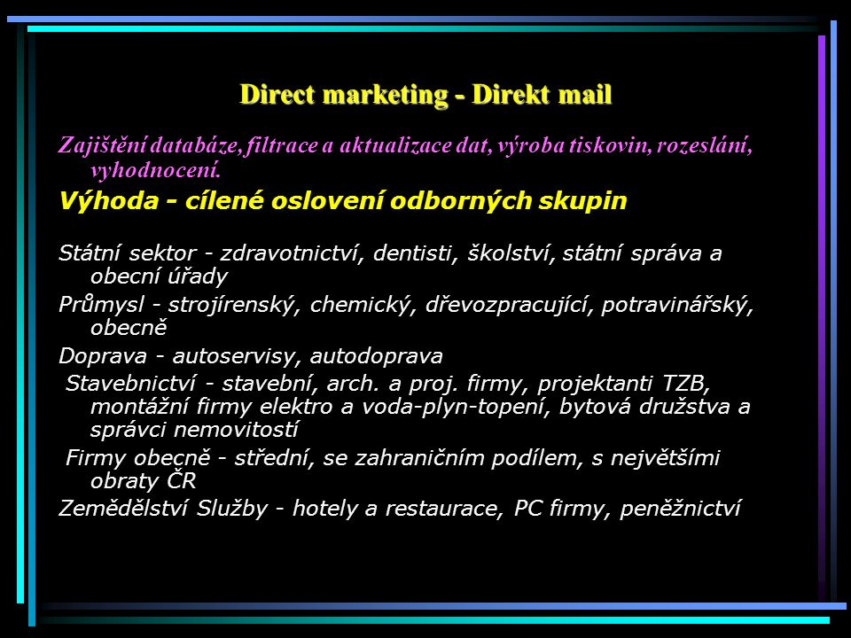 Direct marketing - Direkt mail