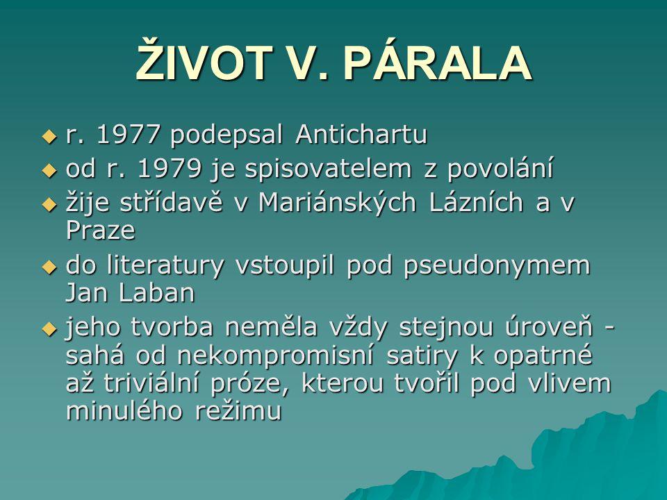 ŽIVOT V. PÁRALA r. 1977 podepsal Antichartu
