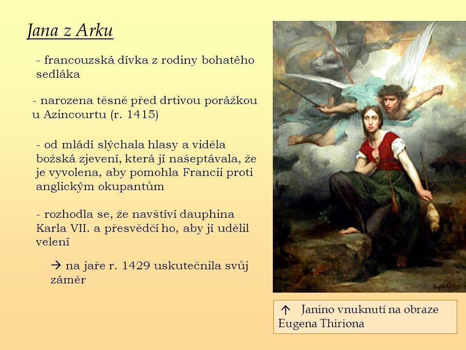 Jana z Arku - francouzská dívka z rodiny bohatého sedláka