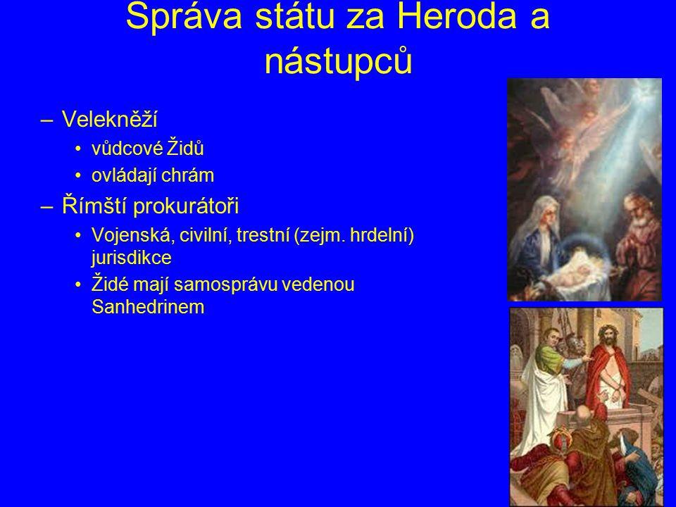 Správa státu za Heroda a nástupců