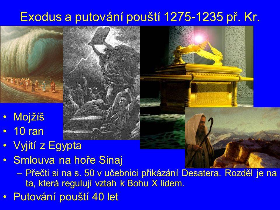 Exodus a putování pouští 1275-1235 př. Kr.