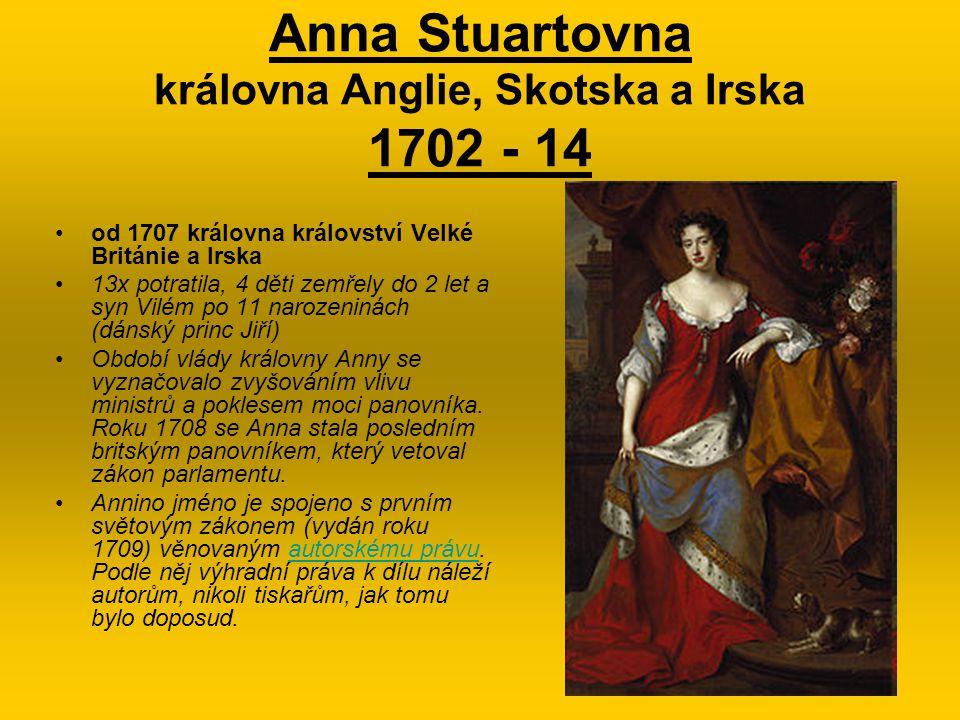 Anna Stuartovna královna Anglie, Skotska a Irska 1702 - 14