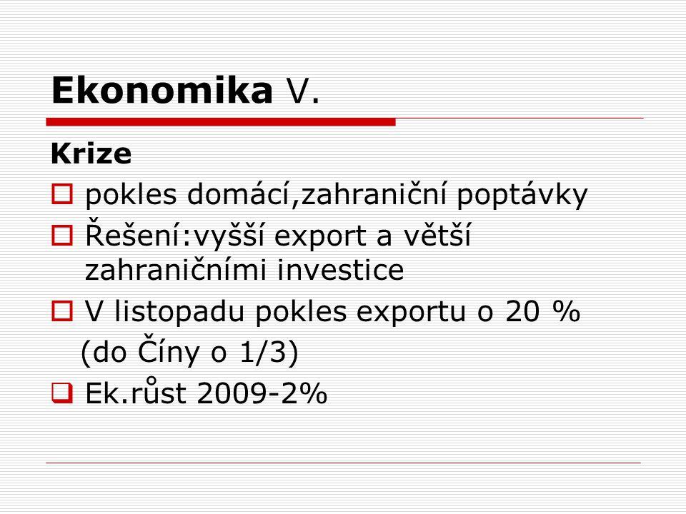 Ekonomika V. Krize pokles domácí,zahraniční poptávky