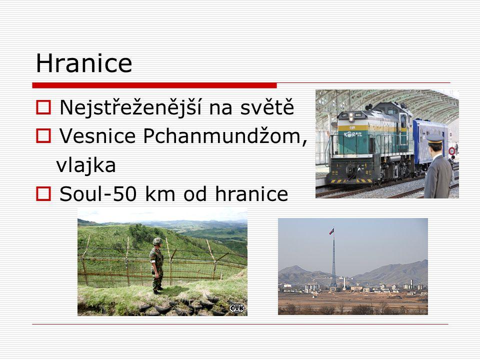 Hranice Nejstřeženější na světě Vesnice Pchanmundžom, vlajka
