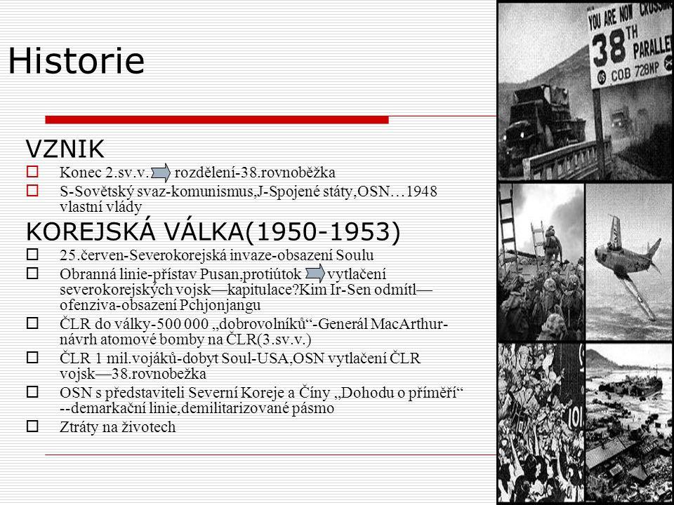 Historie VZNIK KOREJSKÁ VÁLKA(1950-1953)