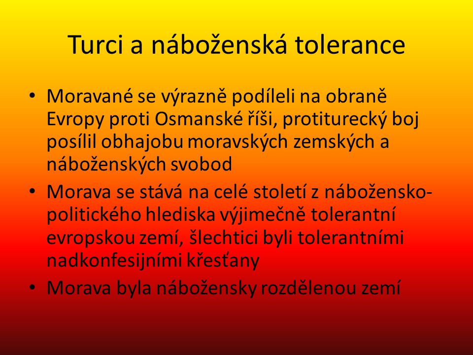 Turci a náboženská tolerance