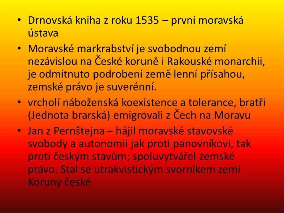 Drnovská kniha z roku 1535 – první moravská ústava