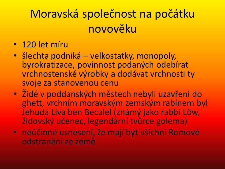 Moravská společnost na počátku novověku