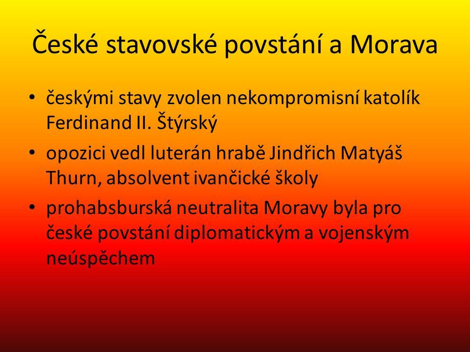 České stavovské povstání a Morava