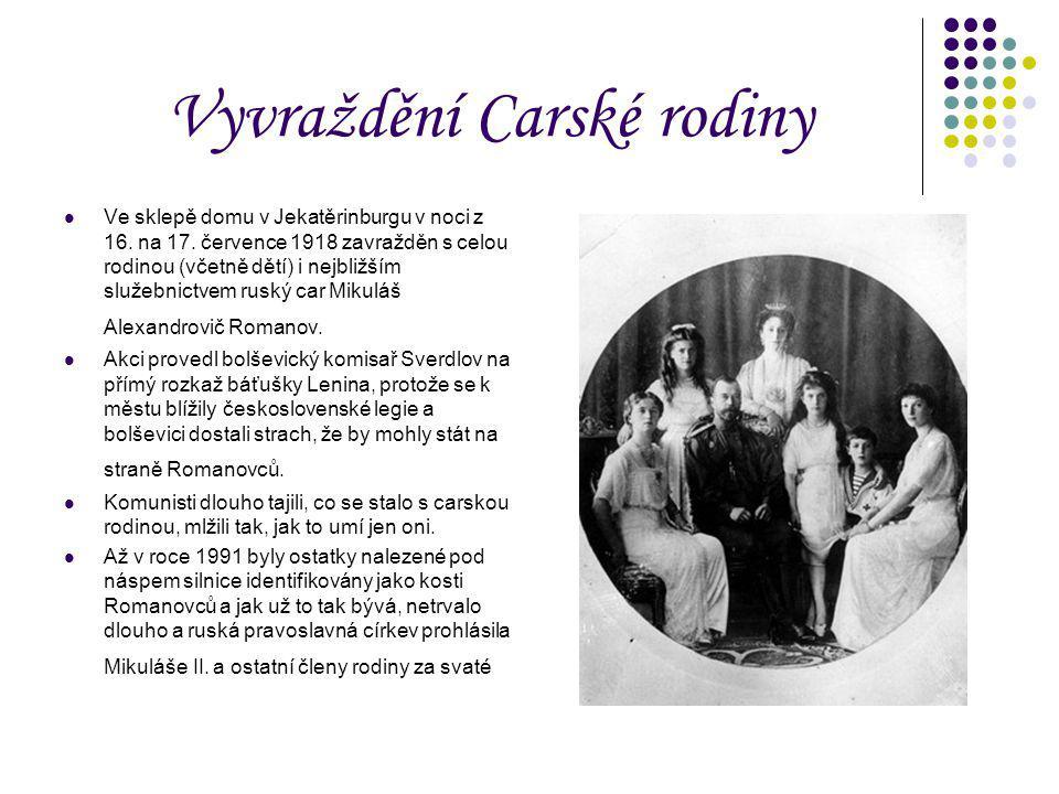 Vyvraždění Carské rodiny