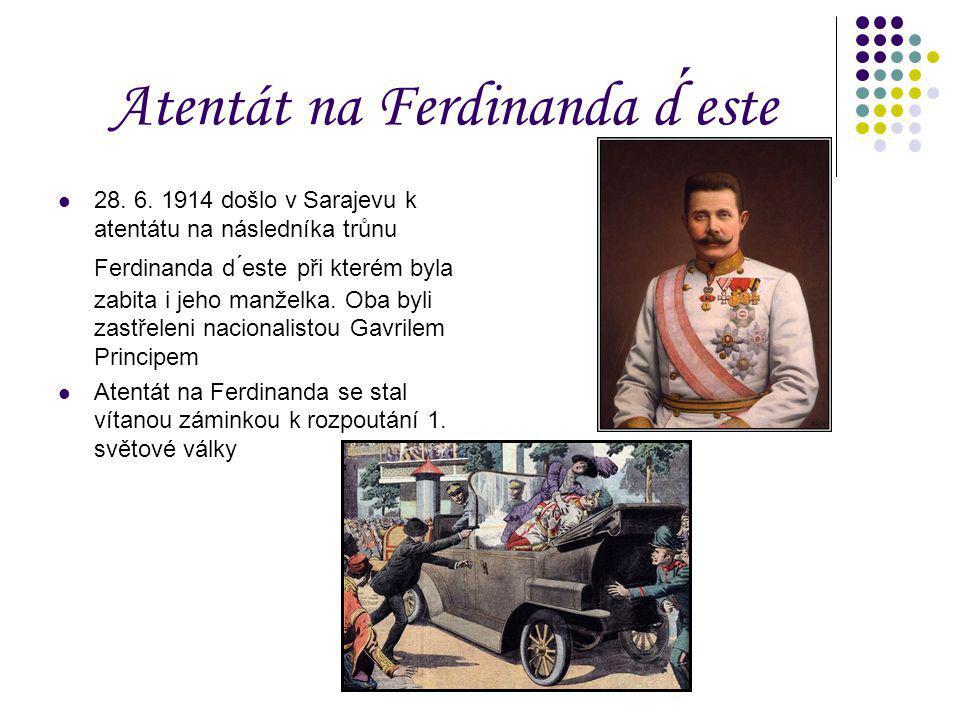 Atentát na Ferdinanda d ́este