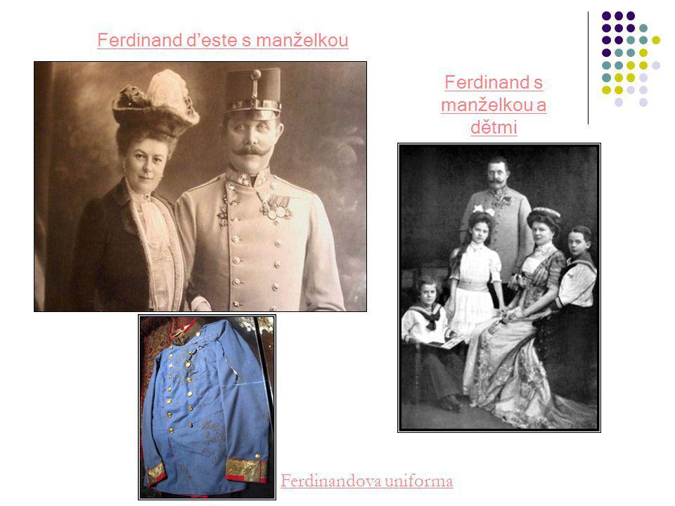 Ferdinand d'este s manželkou