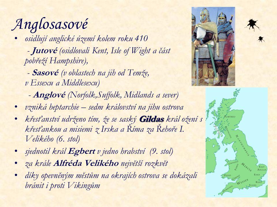 Anglosasové osidlují anglické území kolem roku 410