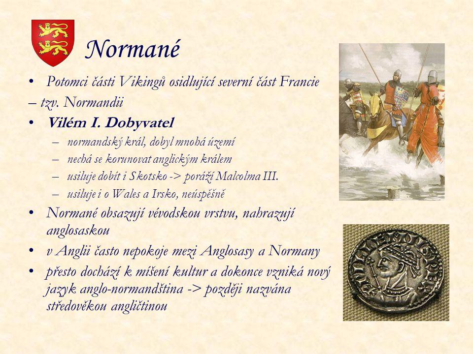 Normané Potomci části Vikingů osidlující severní část Francie