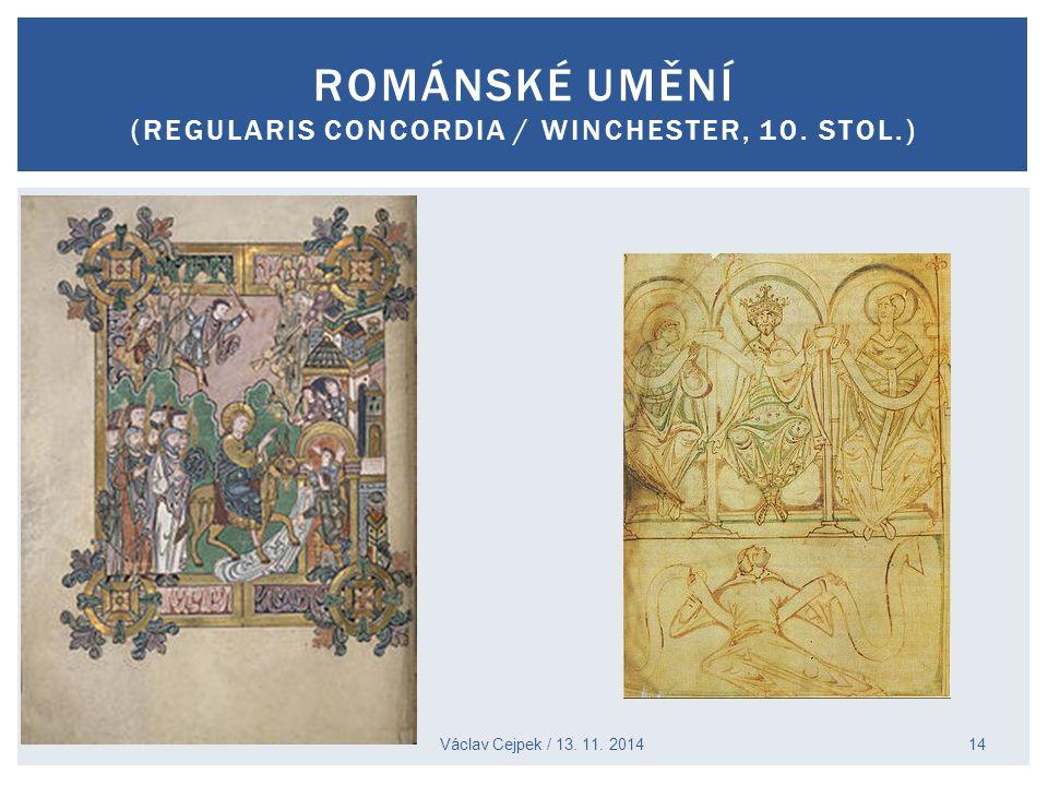 Románské umění (regularis concordia / winchester, 10. stol.)