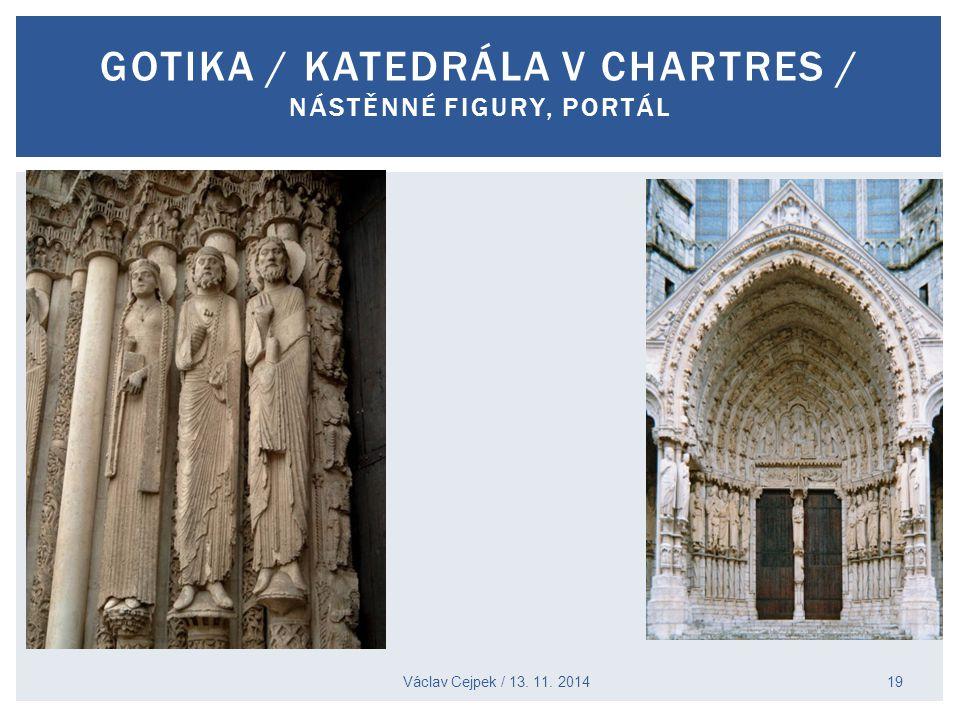 Gotika / katedrála v Chartres / nástěnné figury, portál