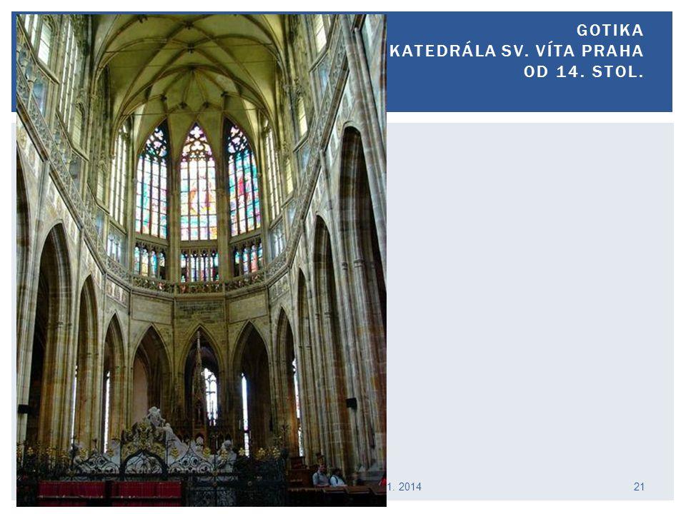 Gotika katedrála sv. Víta Praha od 14. stol.