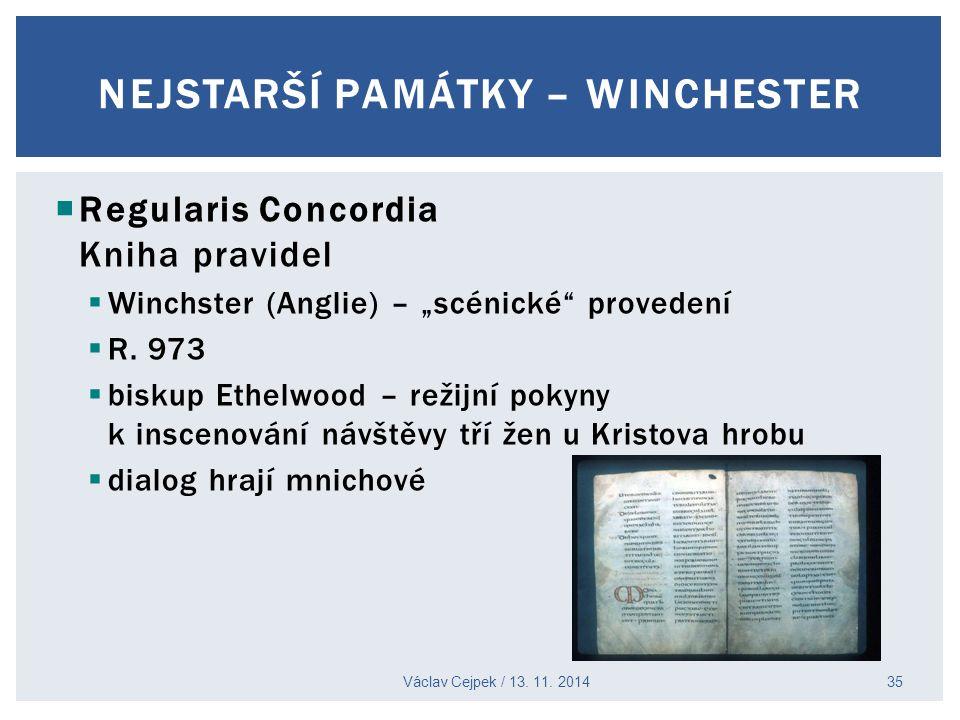 NEJSTARŠÍ PAMÁTKY – Winchester