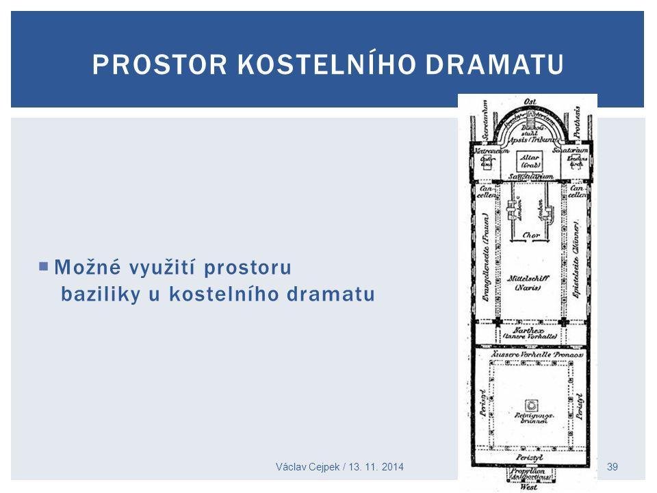Prostor kostelního dramatu