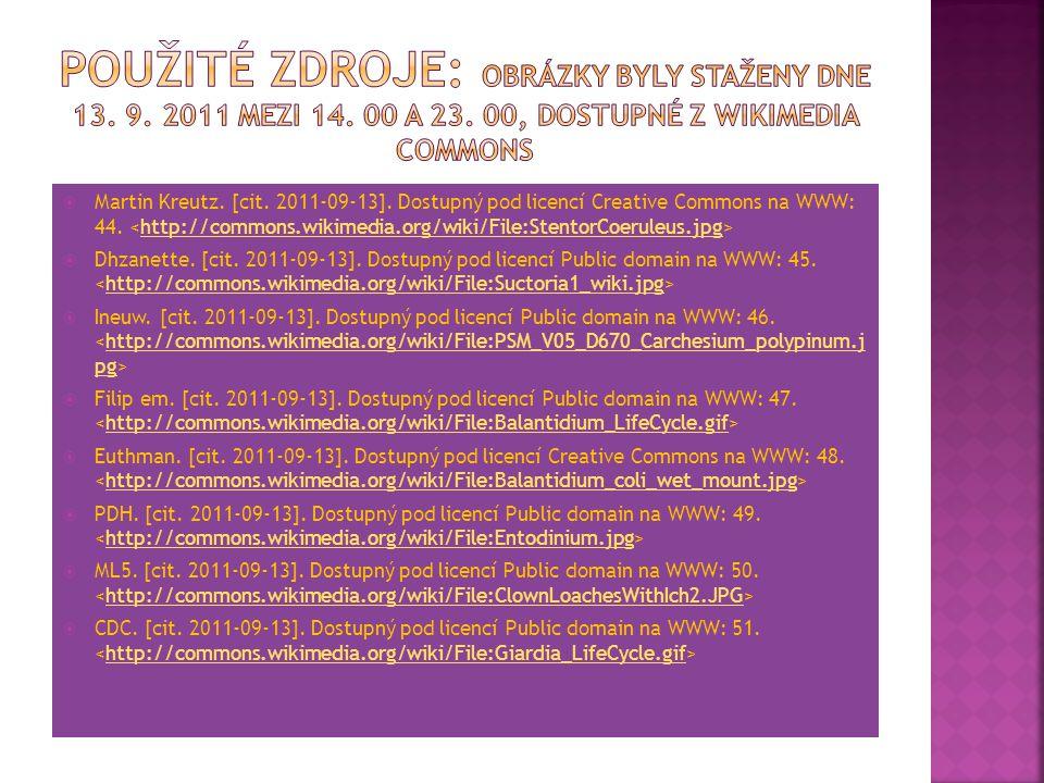 Použité zdroje: Obrázky byly staženy dne 13. 9. 2011 mezi 14. 00 a 23