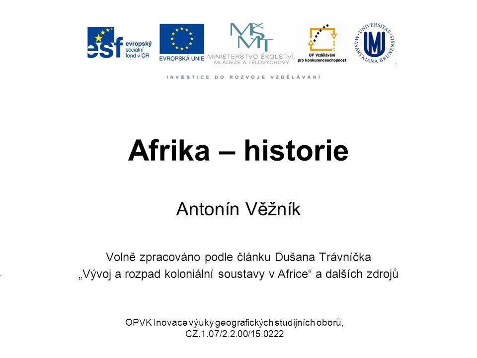 Afrika – historie Antonín Věžník