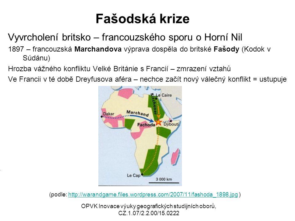 Fašodská krize Vyvrcholení britsko – francouzského sporu o Horní Nil M